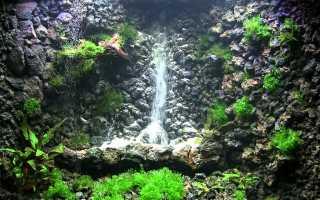 Аквариум с водопадом своими руками